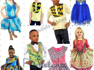 Ready to Wear Ankara Mix Clothings for kids