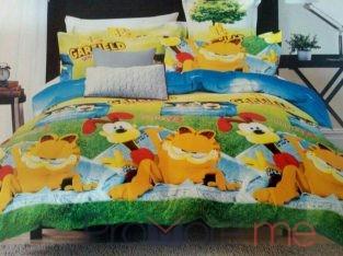 Garfield Print Bedsheet with Pillowcase