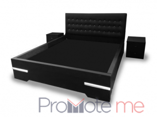 Exquisite Bed Frame – Black – 6×6 ft