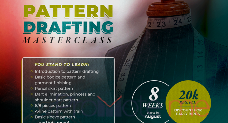 Pattern Drafting sewing course