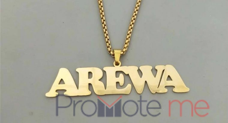 Customized name pendant(stainless steel)